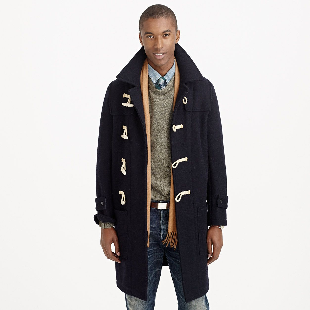 find Mens Duffle Wool Coat Brand