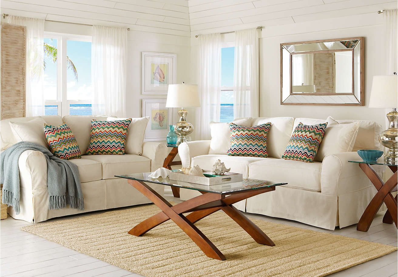 Cindy Crawford Home Sunny Isles Natural 7 Pc Living Room - Living ...