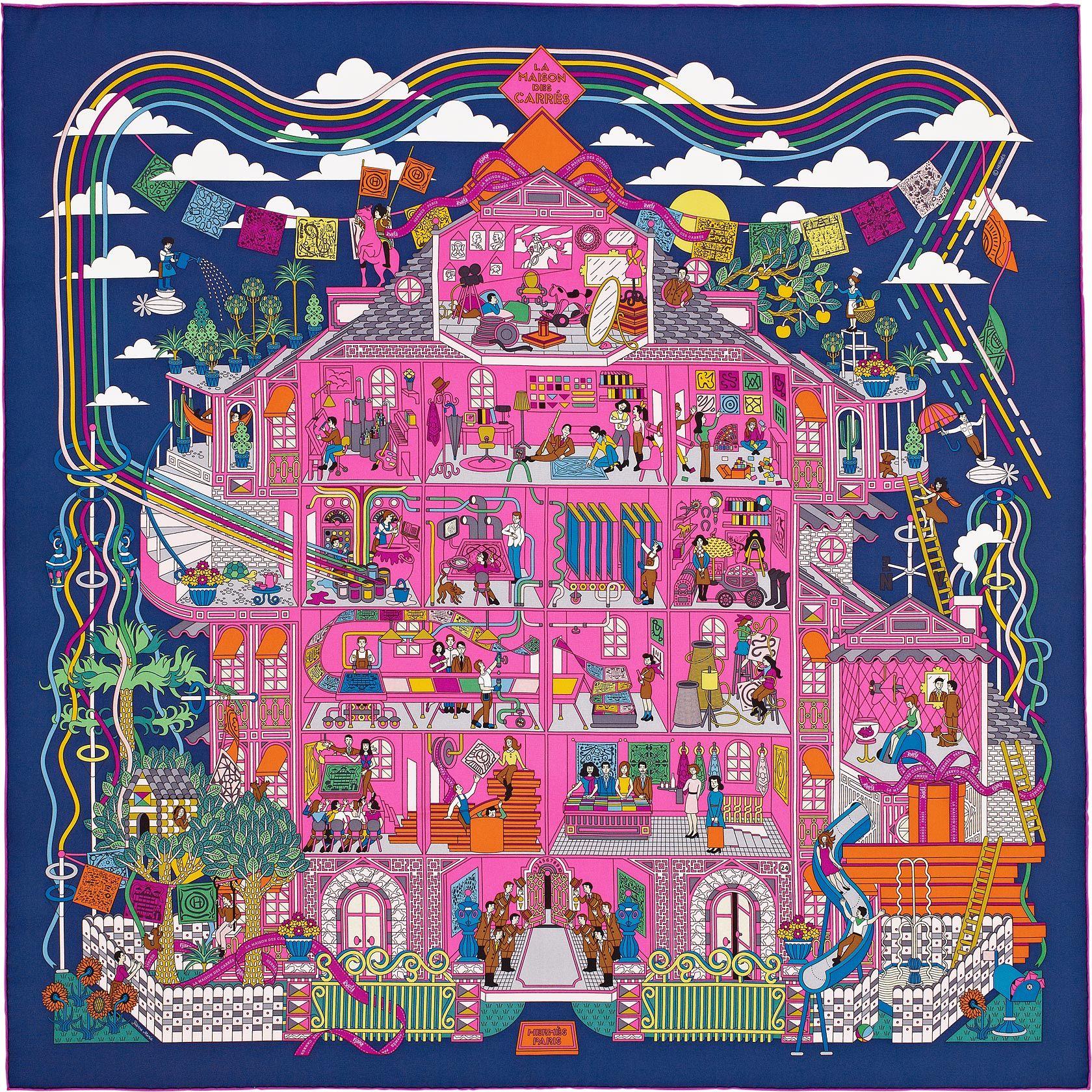 Scarf 90 Hermès   La Maison des Carres   New York Trip   Hermes ... f3848a863e8