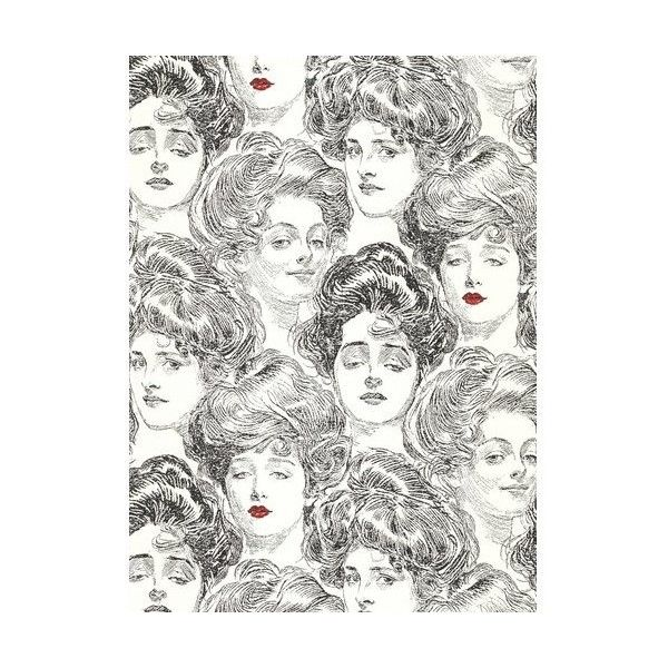 York Wallcoverings SS2419 Black and White Book Pucker Up Buttercup ($71) ❤ liked on Polyvore featuring home, home decor, wallpaper, york wallcoverings, black white wallpaper, black and white home decor, double roll wallpaper and black and white wallpaper