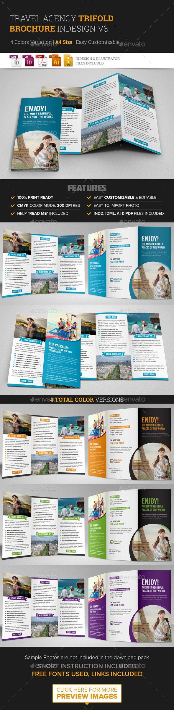 Travel Trifold Brochure InDesign Template v3