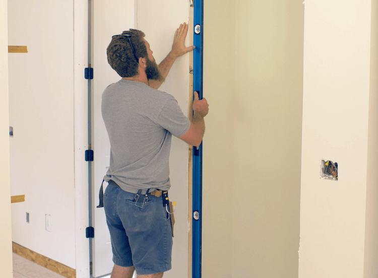 Installing A Prehung Interior Door Jamb Switch With Images Prehung Interior Doors Installation Door Jamb