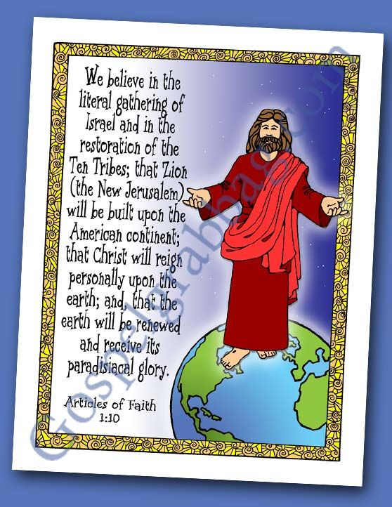 Second Coming, Millennium, Missionary Work Scripture Poster