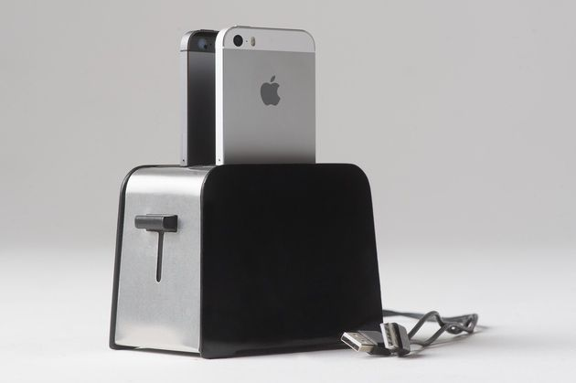 This is foaster, a toaster for your iPhones. Just like the clean and simple design of your iPhone, foaster features a minimal design that looks great, especially in your kitchen. So, ditch the messy cables and get that sleek 2-slice foaster that your Keurig coffee maker has been waiting for to keep it company.