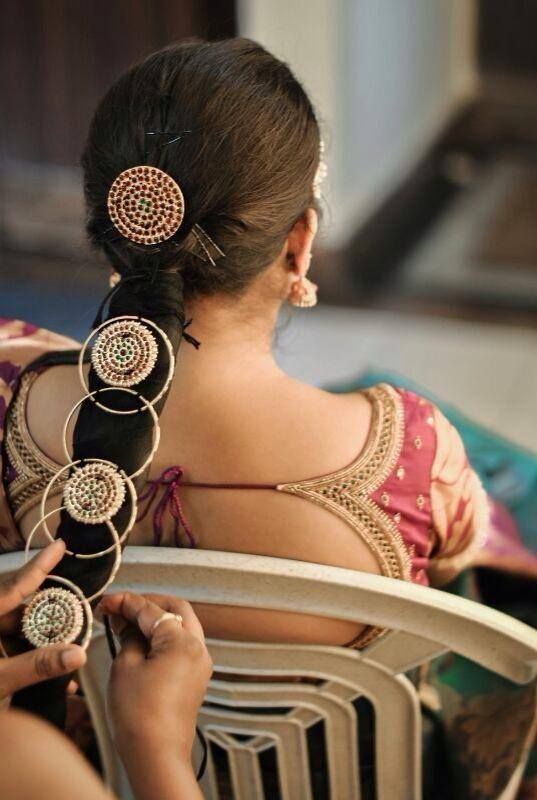 Traditional South Indian Bride In Bridal Braid Hairstyle By Swank Studio