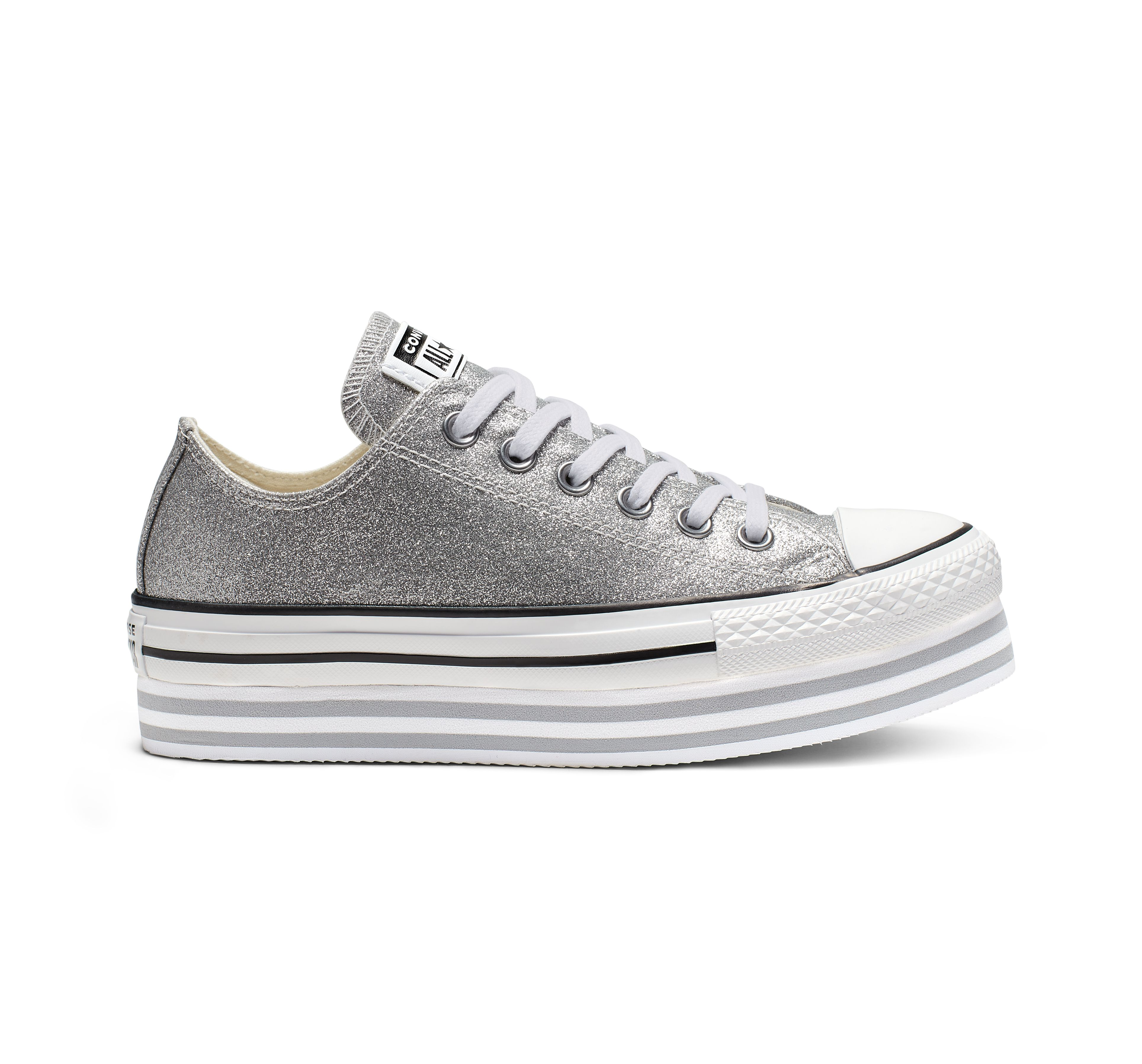 White Classic Platforms CONVERSE Women All Star Canvas Shoes For Sale