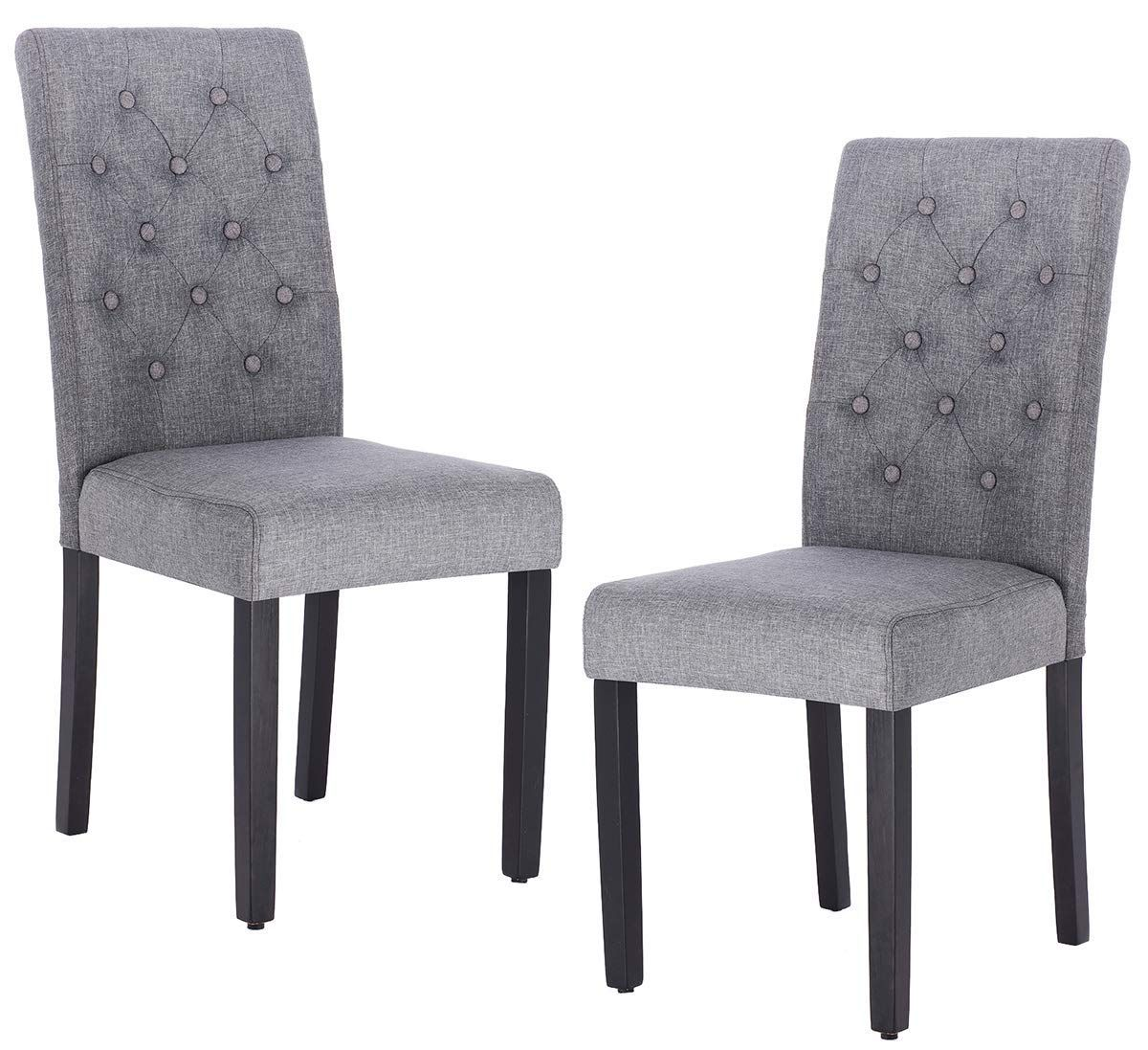 Best Amazon Com Set Of 2 Modern Tufted Padded Parsons Chair 640 x 480