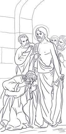 Jesus Appears To Thomas Coloring Page Coloring Pages Free