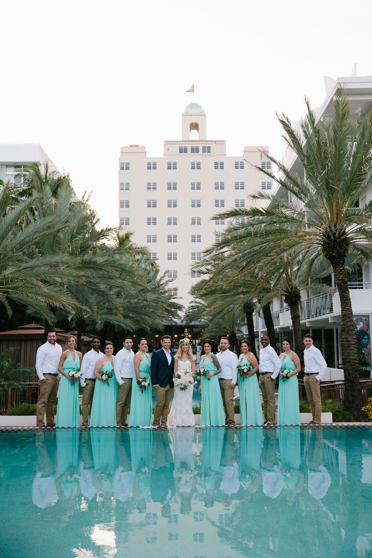 Winter beach wedding at the national hotel winter beach turquoise