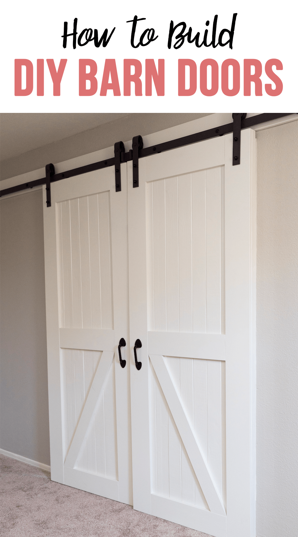 Closets Upstairs How To Build Barn Doors Diy Project Rise And Renovate Door Diy Projects Cheap Barn Doors Barn Door Diy Projects