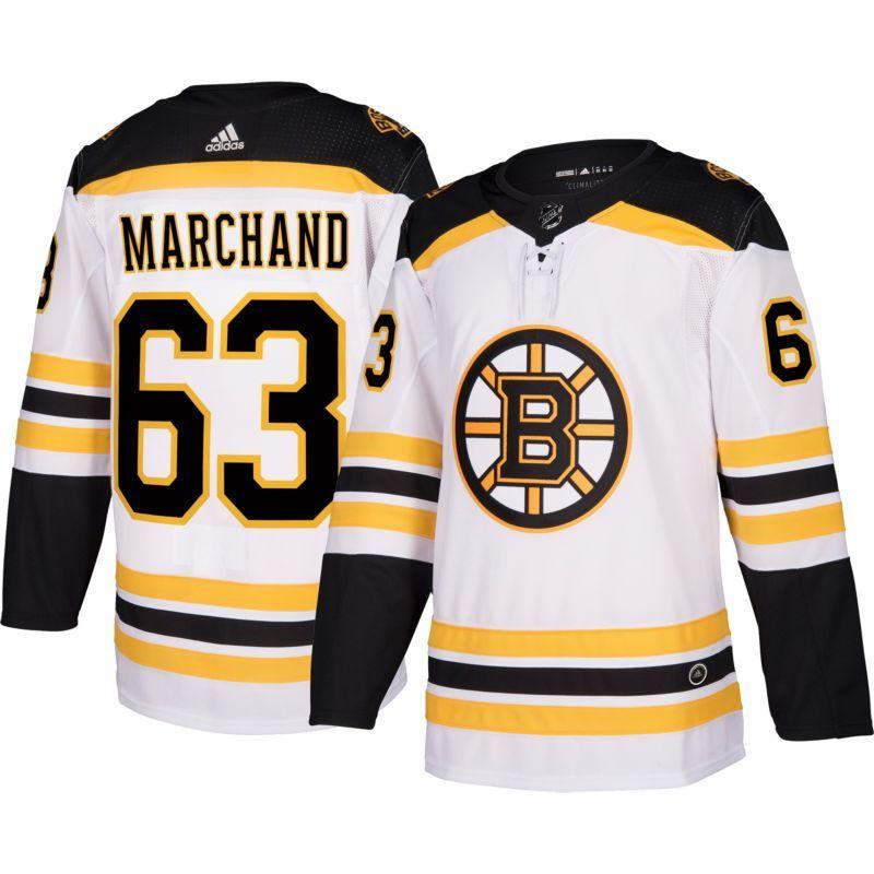 adidas Men\'s Boston Bruins Brad Marchand #64 Authentic Pro Away Jersey