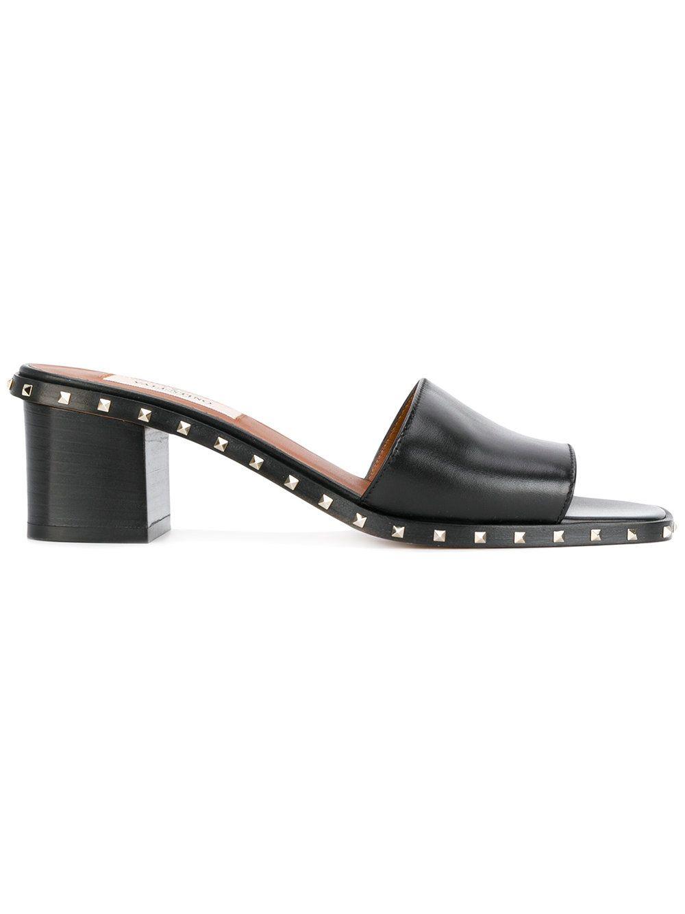f28a7ebb0 VALENTINO   Valentino Garavani Soul Rockstud slide mules #Shoes #VALENTINO
