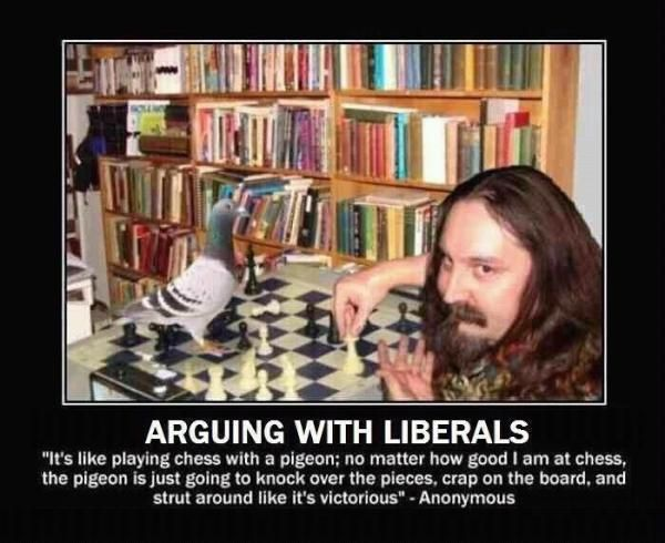 arguing with a liberal….
