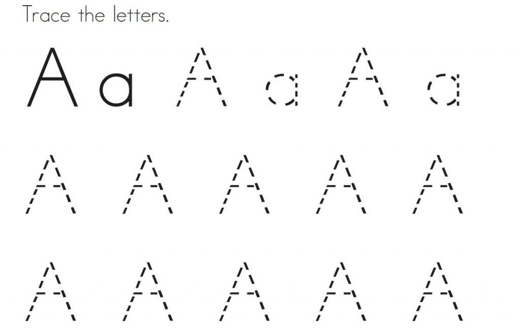 tracing letter a pages for kids to colour in | Letter Tracing ...