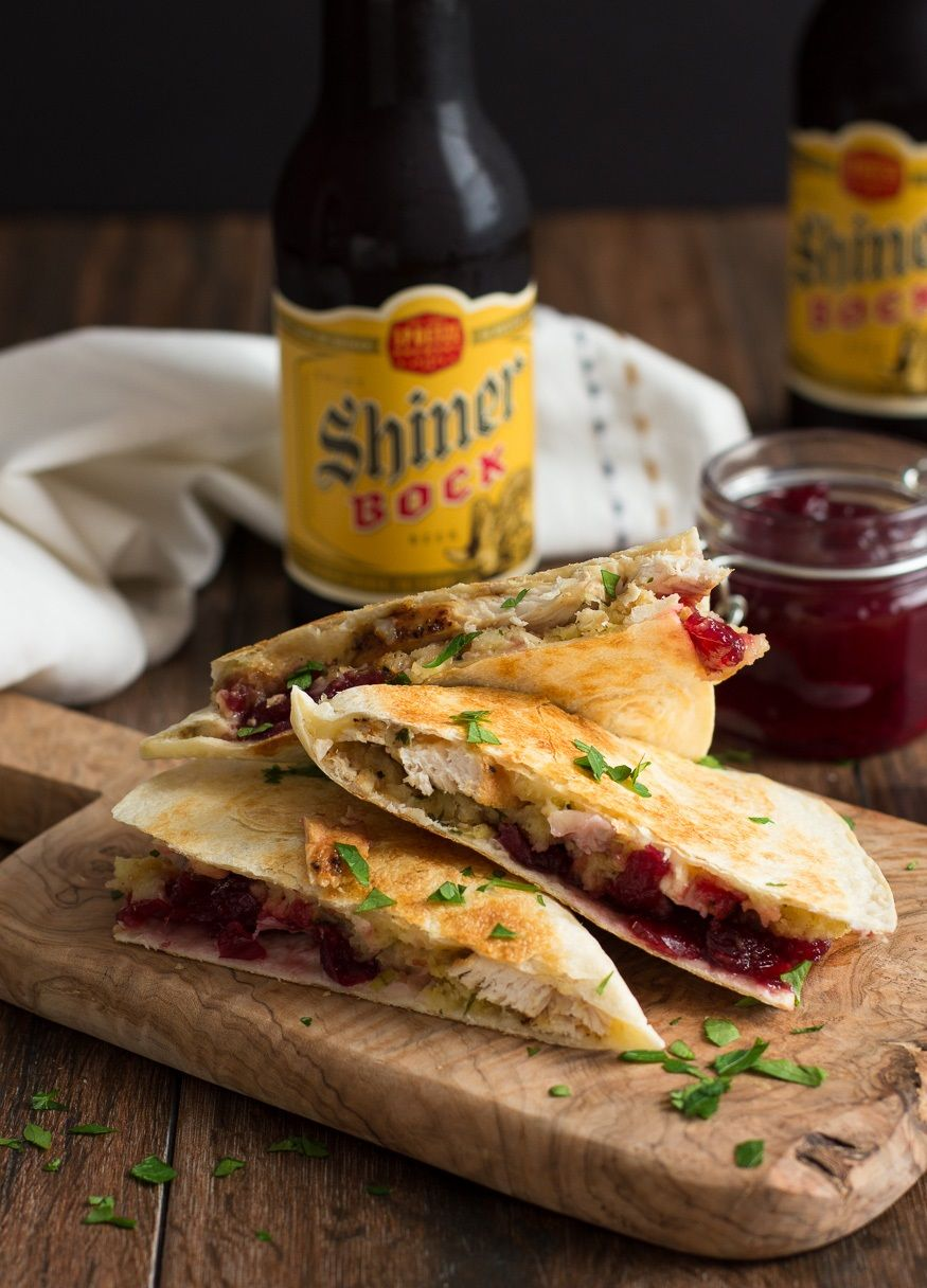 It's never too late for thanksgiving goodness! Turkey, stuffing & cranberry quesadilla [875 x 1216]