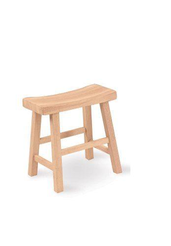 Phenomenal International Concepts 1S 681 18 Inch Saddle Seat Stool Machost Co Dining Chair Design Ideas Machostcouk