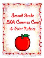 Second Grade 4-Point CCS Language Arts Rubrics and Record Sheets