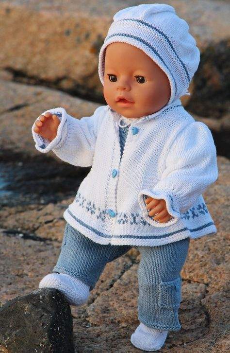 Maalfrid | Игрушки | Pinterest | Knitting patterns, Baby born and Dolls