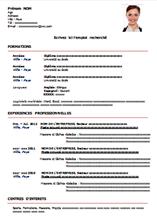 Modeles Curriculum Vitae Cv Classique Exemple Cv Modele Cv