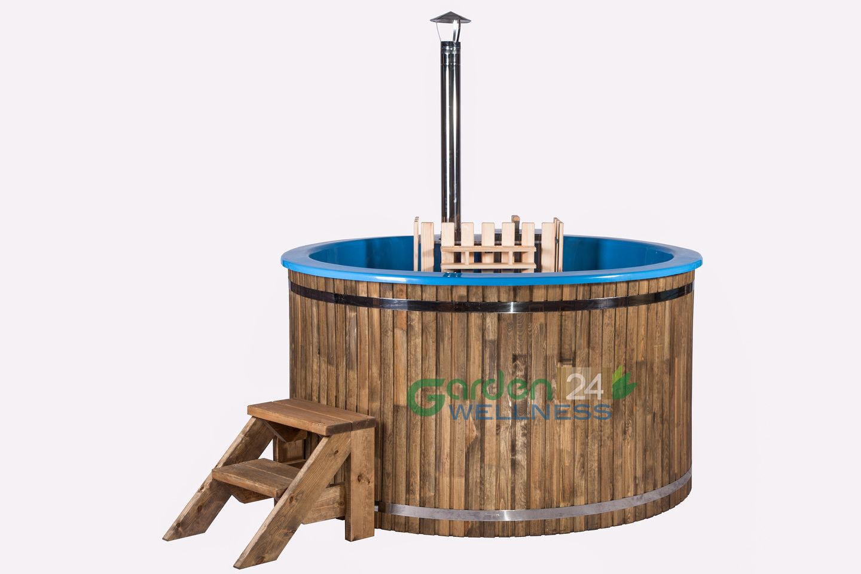 Deluxe fiberglass hot tub with internal heater hottub