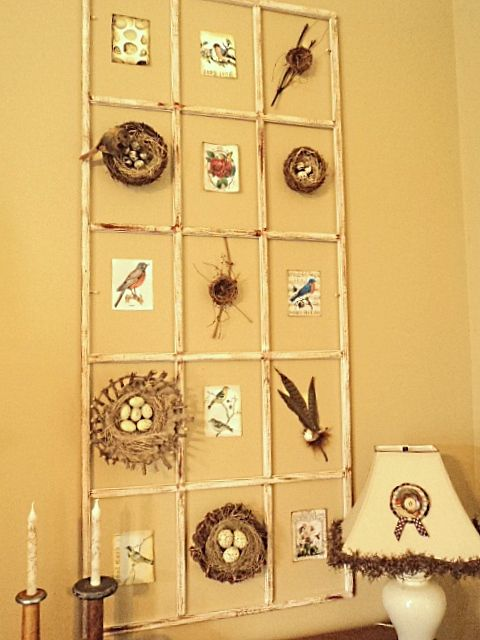 Window pane insert that I repurposed into a piece of wall art to ...
