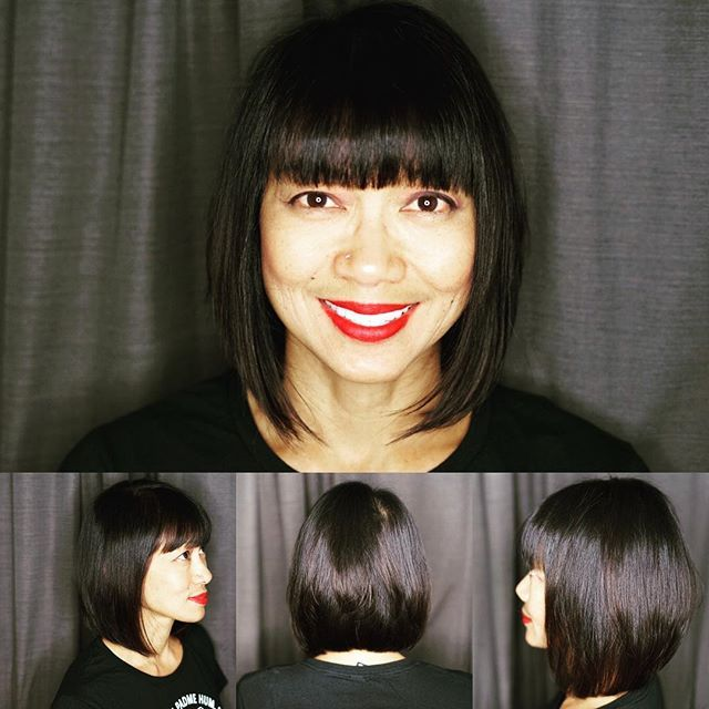Happy Memorial Day Weekend Another Day Of Wonderful Clients Here At Dleux Hair We Are Going To Be Open This Sunday A Lob Haircut Love Your Hair Bobs Haircuts
