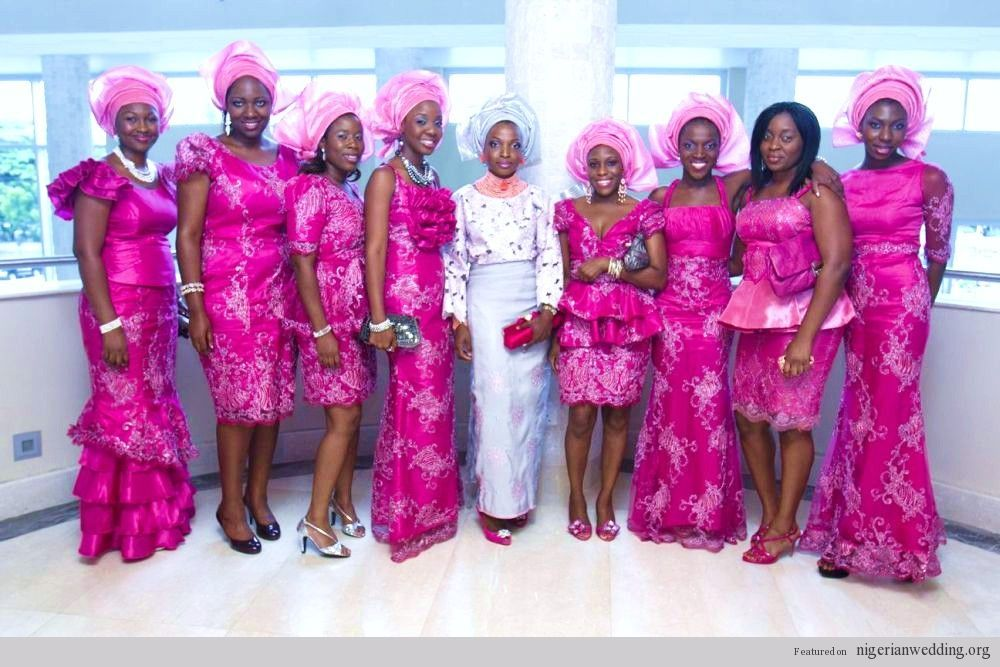 Nigerian Wedding: Stunning & Colorful Aso-ebi Style Ideas | Nigerian ...