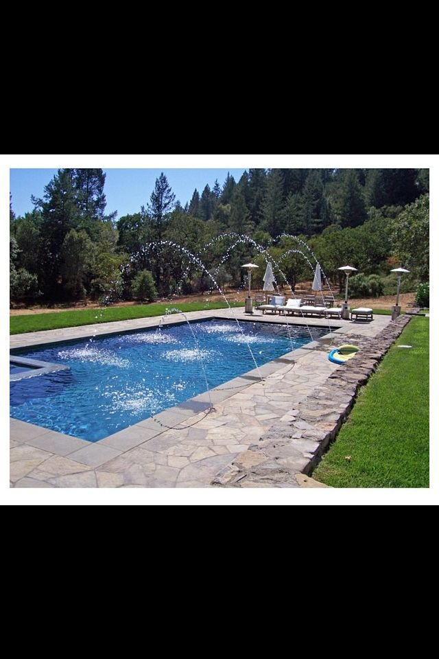 Pool With Shooting Water Spouts Dream Pools Pool Water