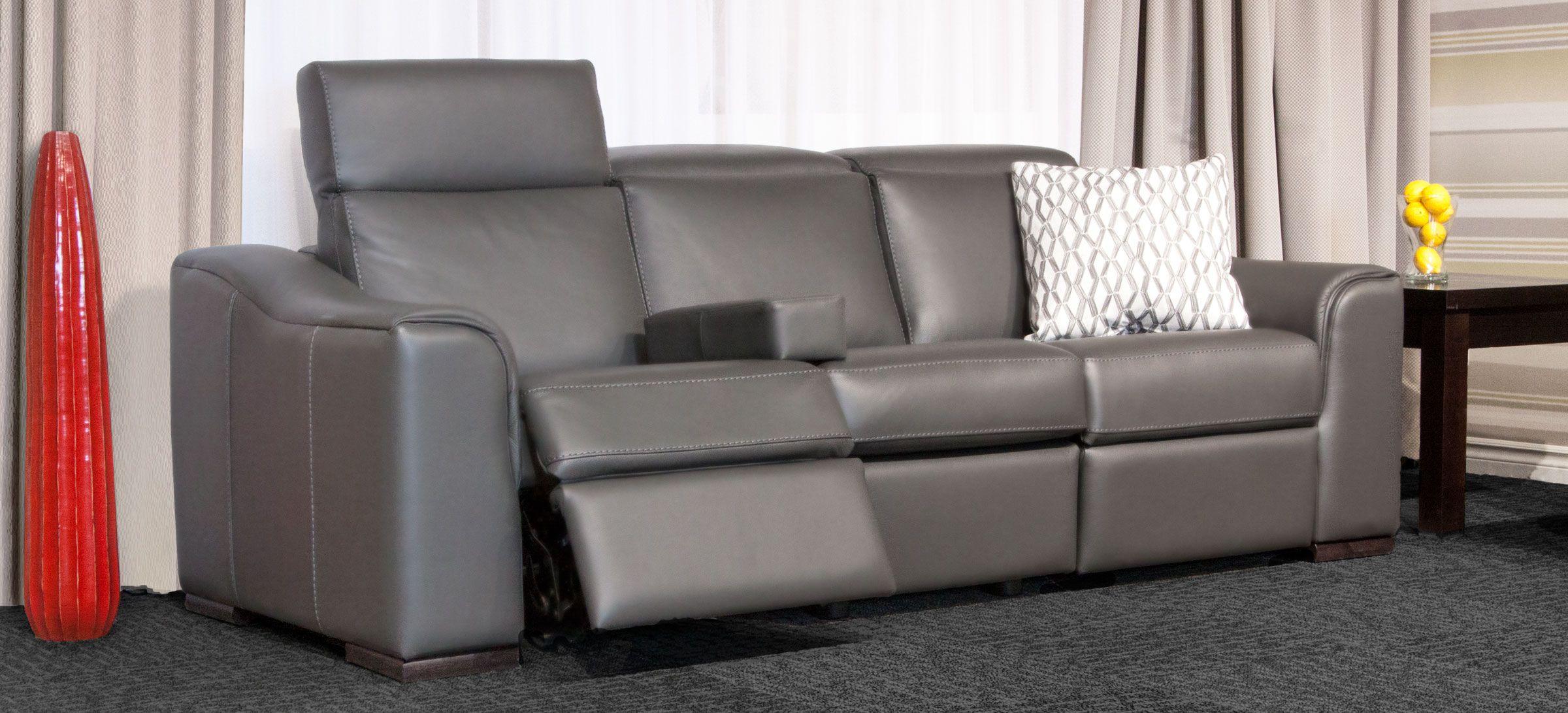 Sofa Inclinable Avec Appui T 234 Te Ajustable Cuir Gris Charcoal Disponible En Fauteuil Ber 231 Ant