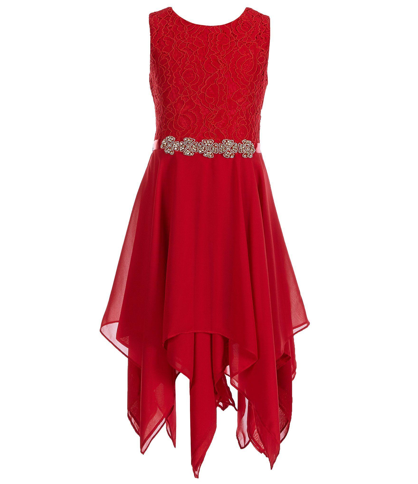 d56a59f765c Tween Diva Big Girls 716 LaceToChiffon FitAndFlare Dress  Dillards ...