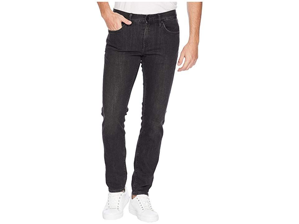 Roark HWY 133 Jeans in Worn Black (Worn Black) Men's Jeans. The Roark Hwy 133 Jeans take West-Coast cool from Laguna Beach to the world with a slim fit and perfectly washed denim. Standard Slim Fit features a low rise and slim-straight fit through the leg. Worn Black is a faded black wash with light sanding that draws out vertical slub character. Presented on durable  abrasion- and tear-resistant 11.25 oz stretch denim. Belt-l