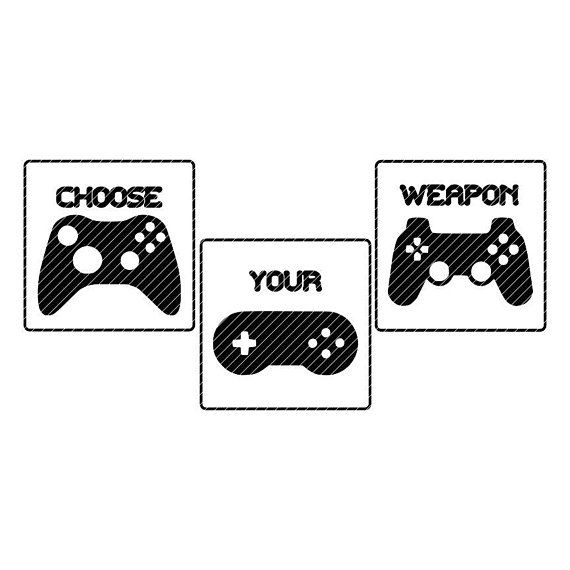 Choose Your Weapon Video Game Controller Svg Clipart Vector