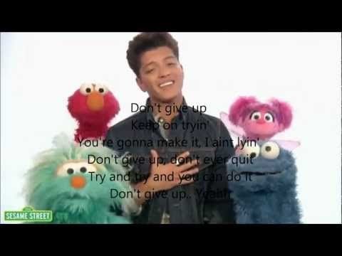 Fun song Don't Give Up. Bruno Mars