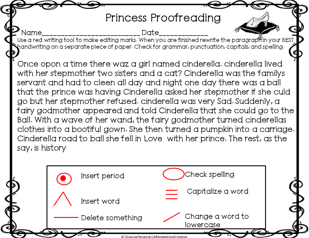 Princess Proofreading A Free Proofreading Activity Proofreading Activities Word Work Stations Proofreader [ 816 x 1056 Pixel ]