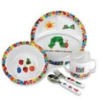 5 Pc Feeding Set by Kids Preferred  Eric Carle's characters will leap from the pages into this adorable 5 piece feeding set for kids.
