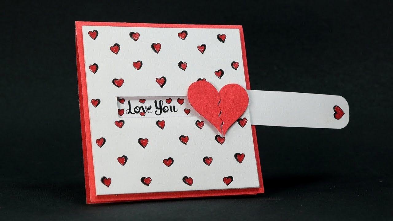 Diy Valentine Card Love Slider Card Tutorial Homemade Valentine Cards Diy Valentines Cards Valentines Cards