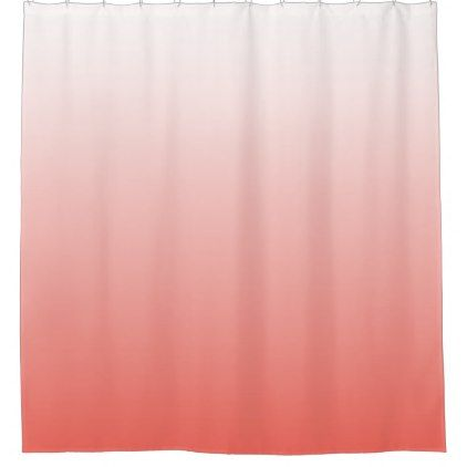 Living Coral OMBRE Shower Curtain | Zazzle.com