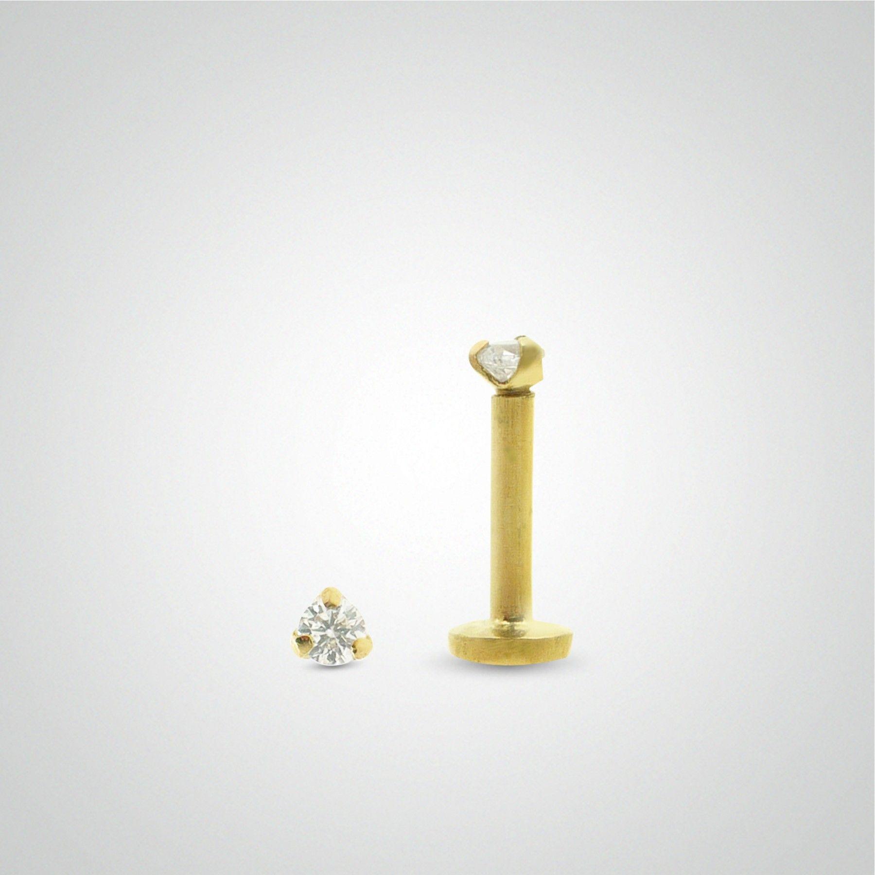 Piercing gold diamant