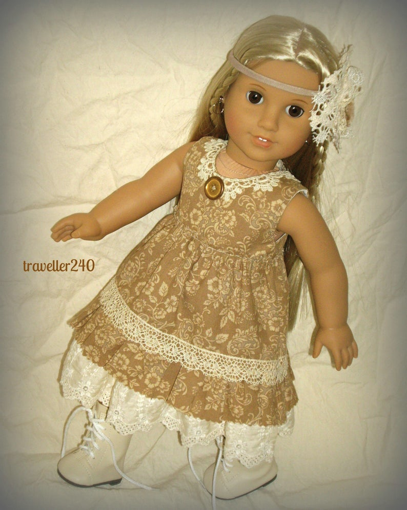 Mori Girl Style!  Handmade Doll Clothes, fits 18