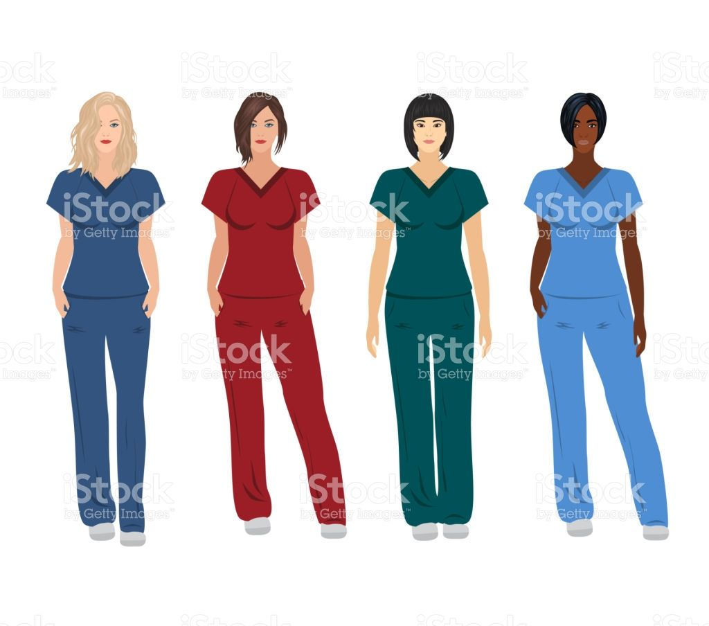 Female Doctors In Different Poses Royalty Free Stock Vector Art Dog Line Drawing Dog Line Female Doctor