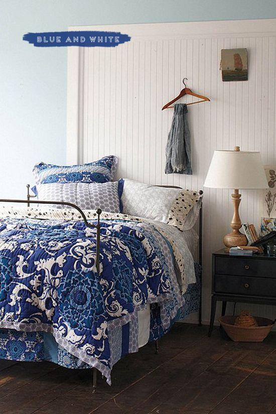 Cobalt Blue and White Bedding cobalt blue, white, blue and white