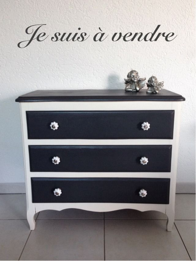 commode 3 tiroirs relook e meubles et rangements par niniedeco pune dore pinterest. Black Bedroom Furniture Sets. Home Design Ideas