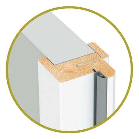 bloc porte isolant pr peint chant droit fin de chantier. Black Bedroom Furniture Sets. Home Design Ideas