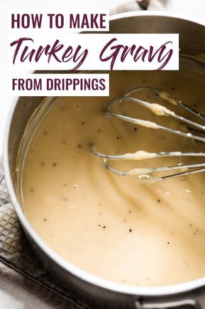 How to Make Turkey Gravy from Drippings - Isabel E