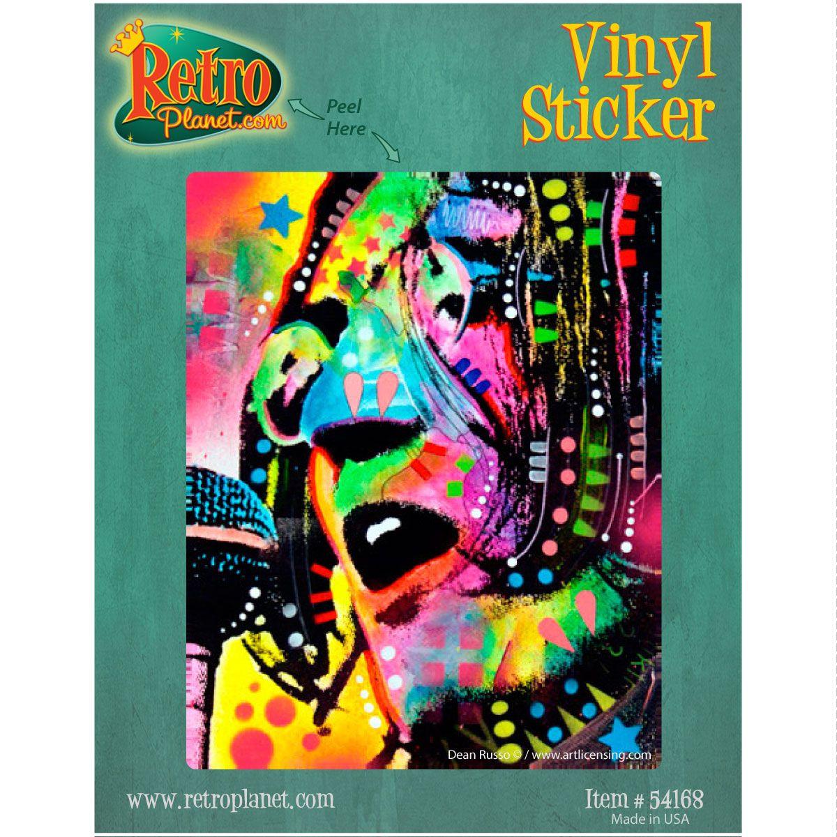 John Lennon Beatles Dean Russo Pop Art Vinyl Sticker Vinyl Stickers Laptop Graffiti Style Art Vinyl Sticker [ 1200 x 1200 Pixel ]
