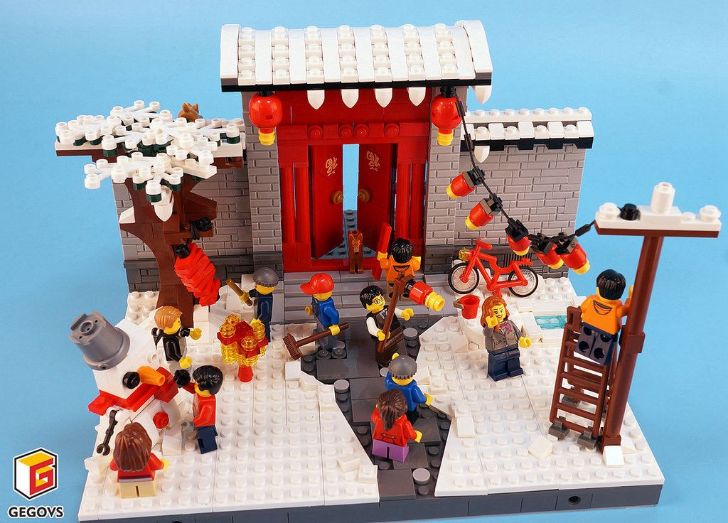 Small Scene Chinese New Year Lego Winter Cool Lego Creations