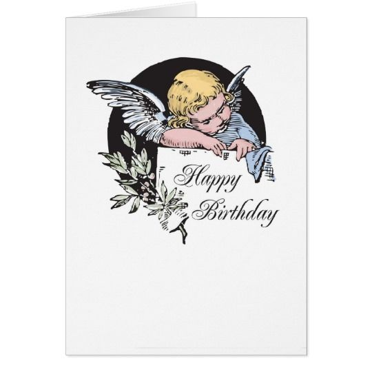 2702 Angel Birthday Card Zazzle Com Birthday Cards Birthday Angel Angel Blessings