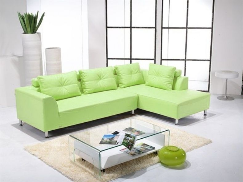Bon Lime Leather Sofa