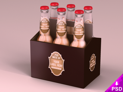 Six Pack Beer Packaging Mock Up Beer Packaging Beer Pack Bottle Mockup