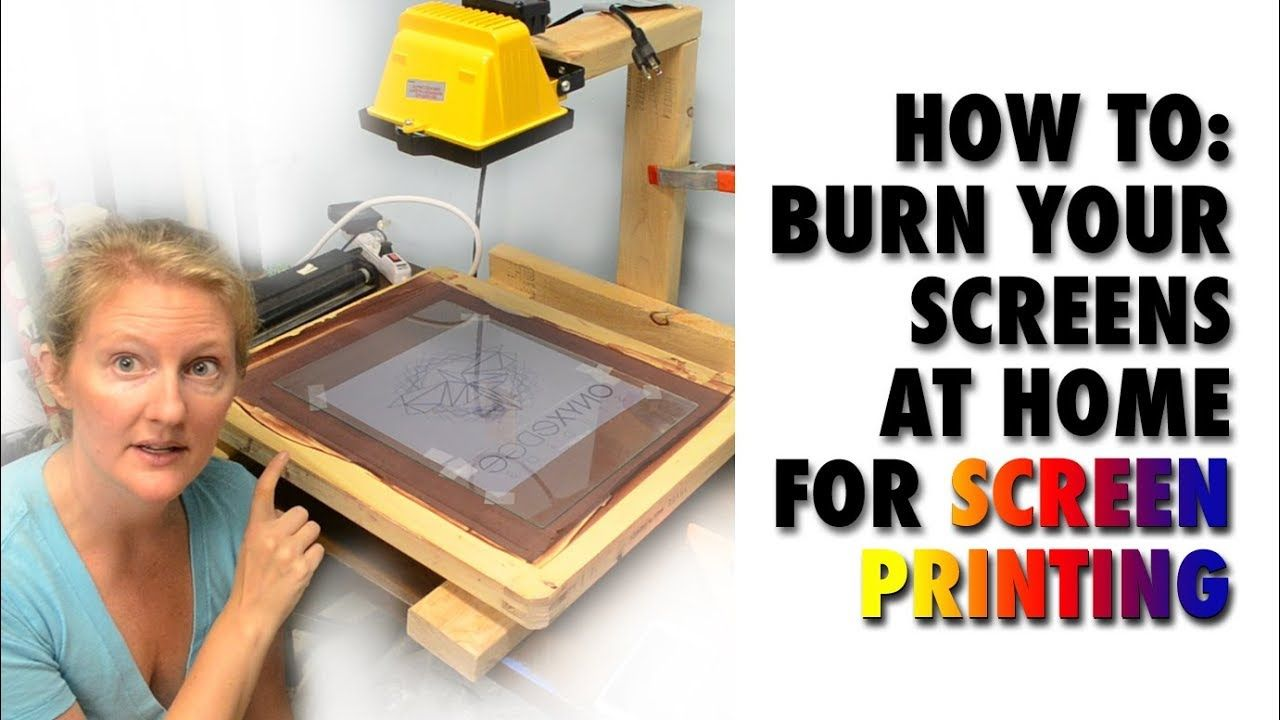 How to burn your screens for screen printing at home